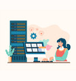 system administrator service concept flat vector image