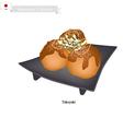 Takoyaki or Japanese Octopus Balls vector image vector image