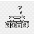 toys kids design vector image