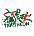Triathlon race vector image vector image
