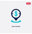 two color map pointer icon from e-commerce and vector image