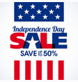 usa independence day sale banner fourth july vector image vector image