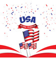 usa national celebration poster template design vector image vector image