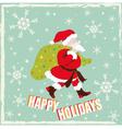 Vintage Santa Claus Card vector image