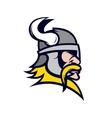 Viking head mascot isolated on white background vector image