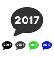2017 message balloon flat icon vector image vector image