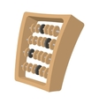 abacus cartoon icon vector image