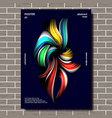 abstract shape poster colorful backdrop vector image vector image