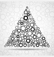 abstract triangle of circles vector image vector image