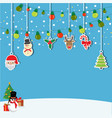 background of hanging christmas vector image
