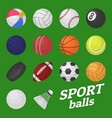 ball game set sport and games kids ball for vector image vector image