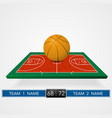 basketball court background vector image