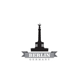 Berlin Germany city symbol vector image vector image