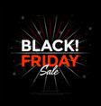 black friday sale poster design with lights bokeh vector image vector image