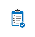 blue clipboard icon with check marks in trendy vector image vector image