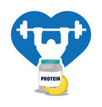 bodybuilder fitness heart protein banana vector image vector image