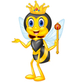 Cartoon queen bee presenting vector image vector image