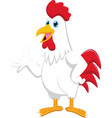 cartoon rooster presenting vector image vector image