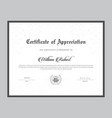 certificate template with clean and modern style vector image vector image