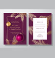christmas and new year abstract greeting vector image vector image