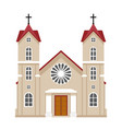 church christianity architecture house building vector image