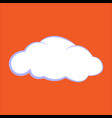 cloud icon clouds on an vector image vector image