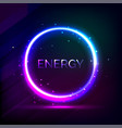cosmic circle energy vector image vector image
