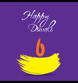 creative happy diwali greeting design vector image vector image