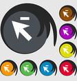 Cursor arrow minus icon sign Symbols on eight vector image vector image