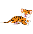 Cute tiger cartoon posing vector image vector image