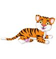 Cute tiger cartoon posing vector image