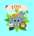 cute zoo animal vector image