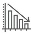 decrease line icon reduction and analytics vector image vector image