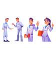 doctors and nurses hospital healthcare staff set vector image