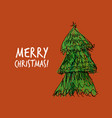 doodle christmas tree for your design vector image vector image