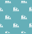 down chart pattern seamless blue vector image