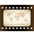 Earth Map in film Frame vector image