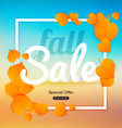 Fall sale Banner with autumn leaf Poster Flyer vector image vector image