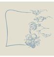 frame fancy flower vector image
