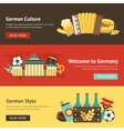Germany banner set vector image