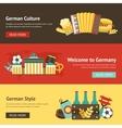 Germany banner set vector image vector image