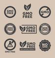 gmo free emblems vector image vector image