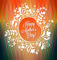 Happy Mothers Day Flowers with geometric pattern vector image vector image