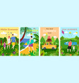 hello summer family and friends on vacations set vector image vector image