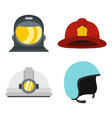 helmet icon set flat style vector image