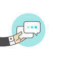 icon of dialog messages vector image vector image
