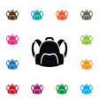 isolated satchel icon backpack element c vector image vector image