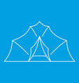 large tent icon outline style vector image vector image