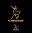 line deer animal vector image vector image