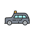 london cab traditional public transport taxi vector image